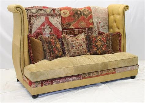 leather and tapestry sofa sofa tapestry traditional fl tapestry sofa settee chair
