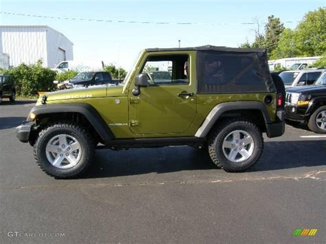 rescue green jeep rubicon 2008 rescue green metallic jeep wrangler rubicon 4x4
