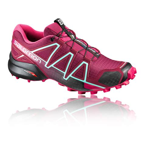 water resistant trail running shoes salomon speedcross 4 womens pink water resistant trail