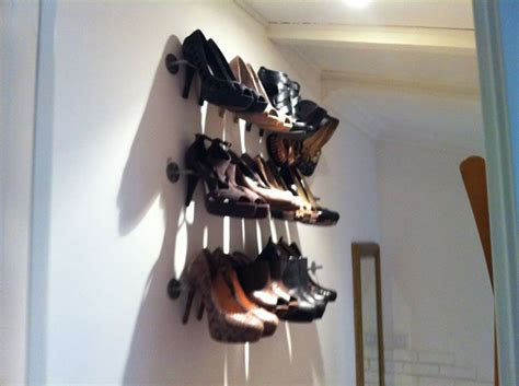 diy high heel shoe rack simple storage solution for shoes ikea hackers high