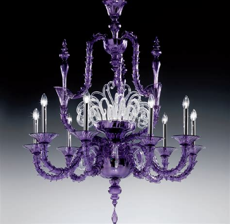 Purple Chandelier Large Purple Traditional Rezzonico Murano Glass Chandelier Dm0viva0k10 Murano Imports