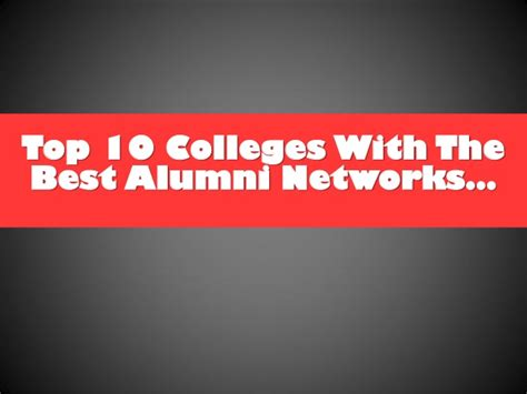 Best Mba Alumni Networks by Top 10 Schools With Awesome Alumni Networks