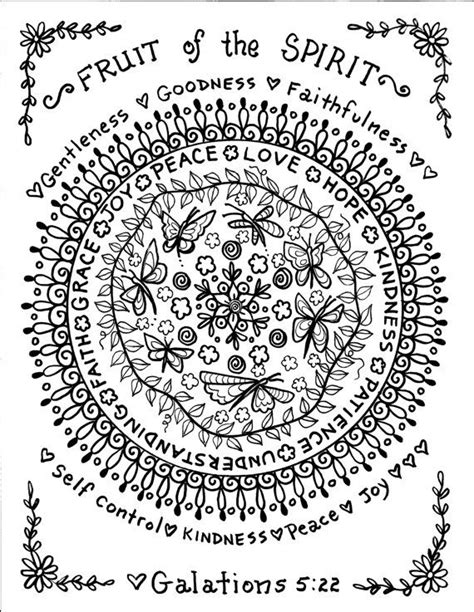 bible mandala coloring pages 78 best images about bible notebook fruit of the spirit