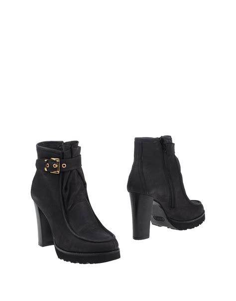Humm3r Napoleon Black Heels Sole napoleoni ankle boots in black lyst
