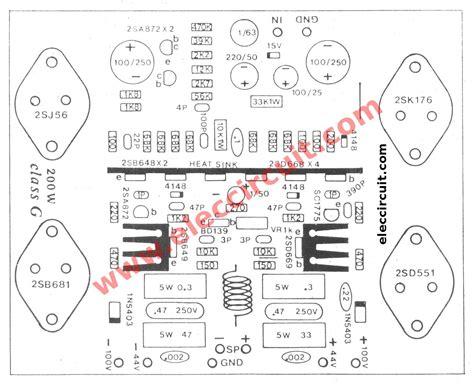 mosfet transistor layout 300 watt mosfet power lifier circuit class g