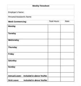 weekly timesheet templates 16 weekly timesheet templates free sle exle