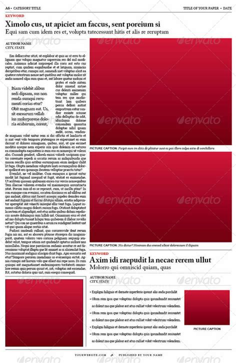 free newspaper layout design templates old style newspaper template by tedfull graphicriver