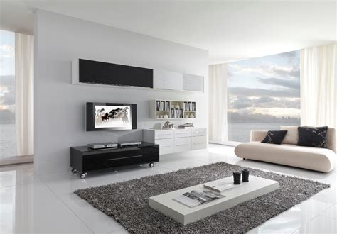Modern Black And White Furniture For Living Room From Modern Living Room Chairs
