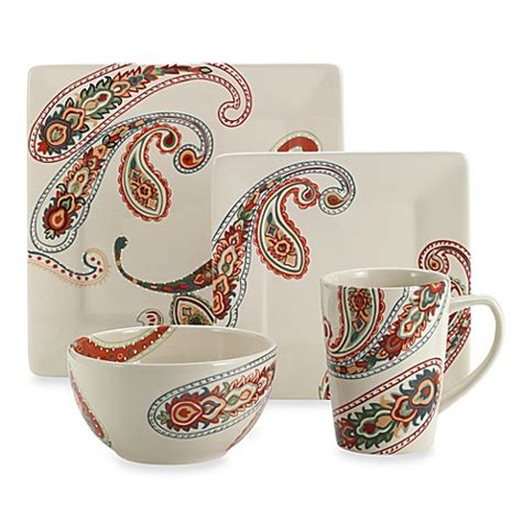 dishes bed bath and beyond paisley 4 piece dinnerware set bed bath beyond