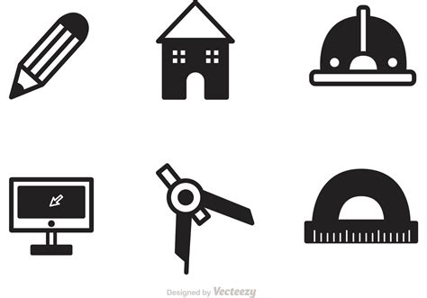 Floor Plan Drawing Tool black architecture tools icons vector download free