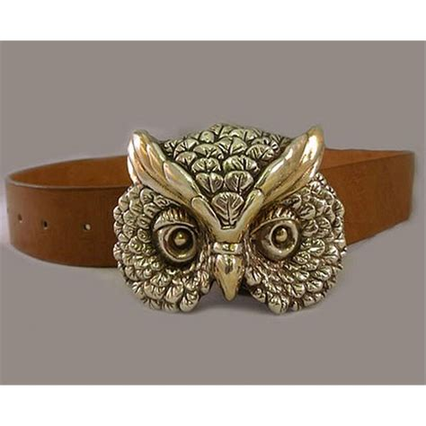 owl item yaacov heller lion belt buckle or owl belt buckle