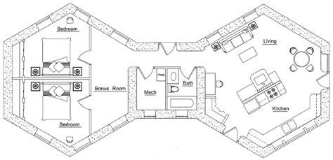 small hexagon house plans