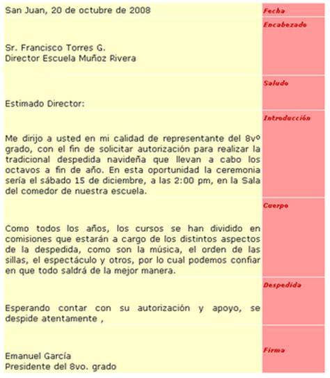 elementos de una carta formal e informal cartas en espa 209 ol