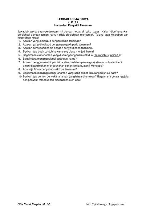 contoh biopestisida rpp ipa science lesson plan