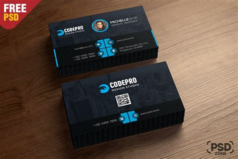 business card print template psd free corporate business card template psd
