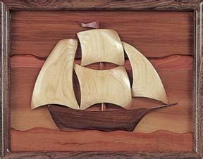 billowing sails sailboat intarsia scroll  pattern