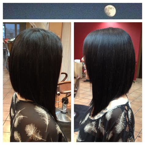 The long angled bob: with or without a side fringe