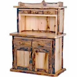 Kitchen Hutch Furniture aspen log kitchen hutch mountain woods log furniture