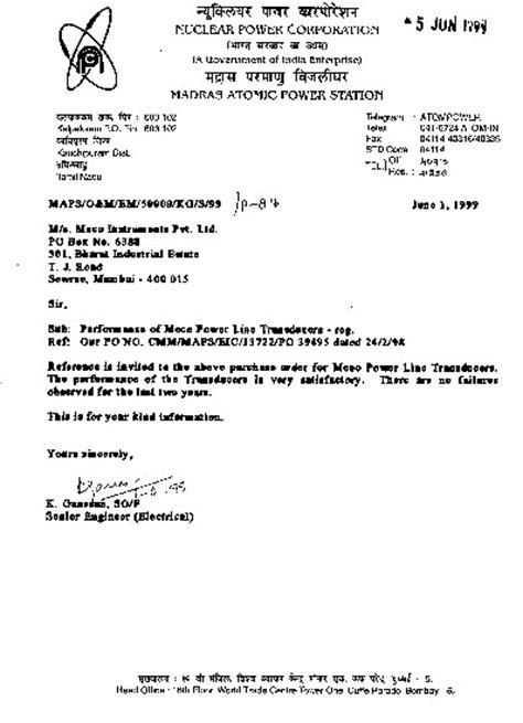 Purchase Order Letter To Supplier Cover Letter For A Purchase Order