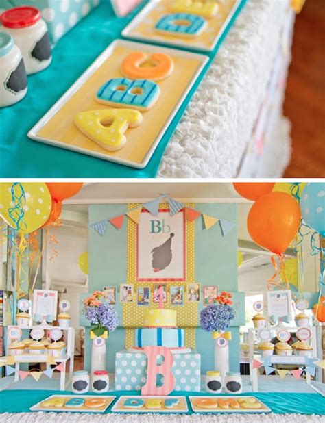 party themes like abc abc 123 silhouette themed 1st birthday party via kara s
