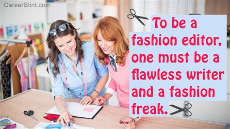 how to become a fashion editor