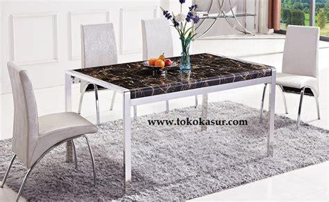 Meja Makan Marmer meja makan kursi makan dining table meja makan minimalis
