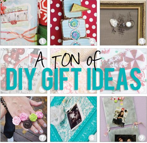 Small Handmade Gift Ideas - tons of diy gift ideas