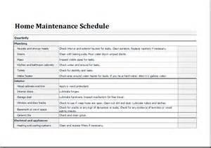 home schedule home maintenance schedule template for excel document