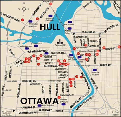ottawa canada map ottawa ontario map images