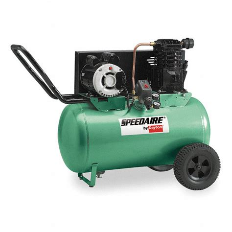 speedaire 3 0 hp 230vac 20 gal portable electric barrel air compressor 135 psi 1nnf7 1nnf7