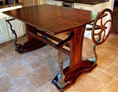 Custom Drafting Table Crafted Walnut Iron And Bronze Custom Drafting Table