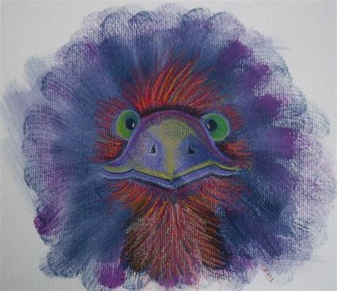 Mote Pastel emu mote by sherry key from illustrations mixed media