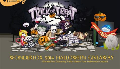 Halloween Software Giveaway - wonderfox 2014 halloween giveaway enters into its final stage