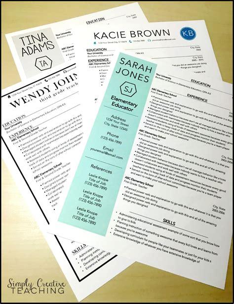 sample resume for teaching job format of resume for teachers