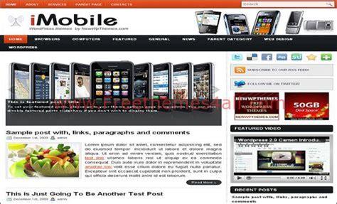 mobile theme free free white mobiles theme template