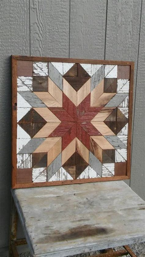 geometric pattern on barns salvaged wood barn quilt block geometric wall art