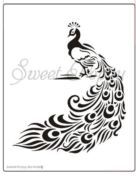 printable poppy stencils sweet poppy stencil peacock the craft station ltd