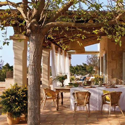 Patio Designs For Houses Classic Patio Ideas In Mediterranean Style