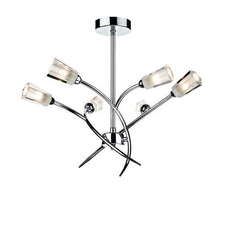 dar lighting lewis lew0650 polished chrome 6 light semi