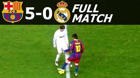 detiksport madrid vs barcelona fc barcelona vs real madrid 5 0 full match 2010 11 hd 720p