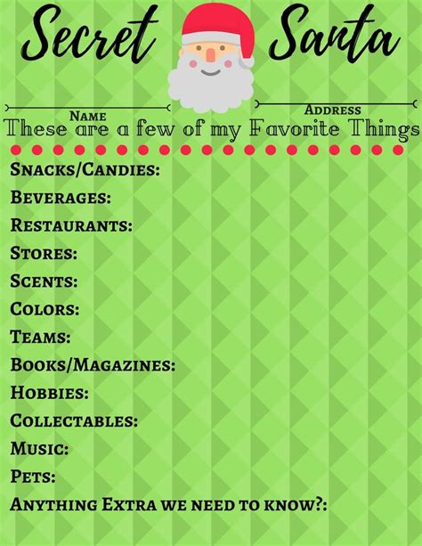 christmas exchange questionnaire the 25 best secret santa questionnaire ideas on present questionnaire