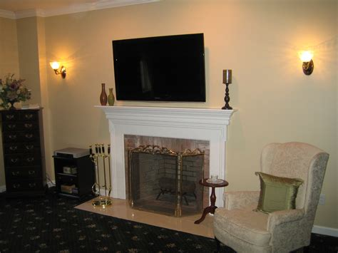 clinton ct tv install above fireplace in wall wire concealment richey group llc audio