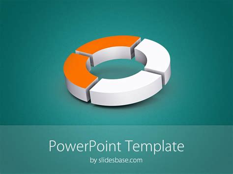 3d Donut Diagram Powerpoint Template Slidesbase Powerpoint Templates 3d