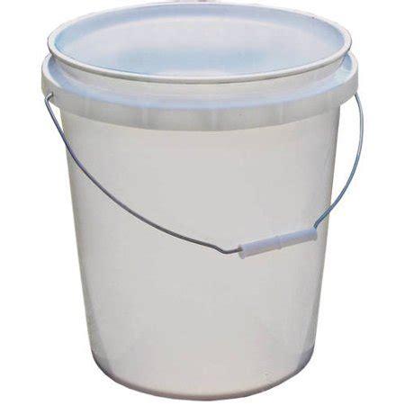Pail 1 5 Gallons encore plastics 5 gallon pail white walmart
