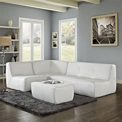 contemporary domino living room with white leather sofa furniture contemporary white leather curved sectional