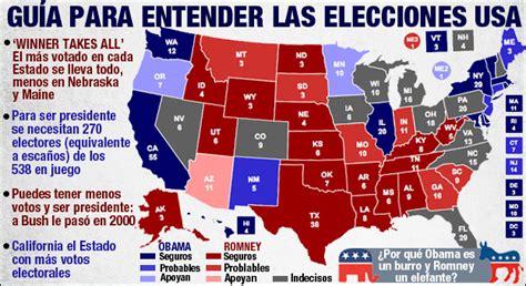 mapaor de elecciones usa 2016 estados unidos elige entre clinton o trump este martes 8
