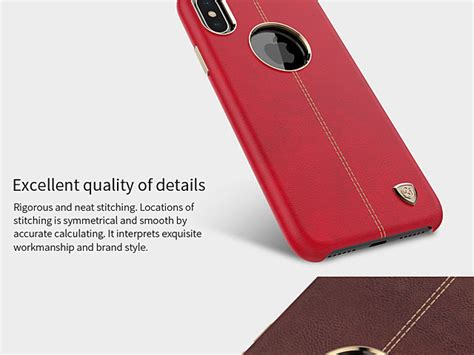 Nillkin Englon Iphone X Ten Leather Back Cover Casing nillkin englon leather cover for iphone x