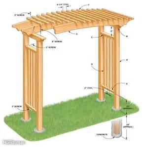 how to build a garden arbor the family handyman