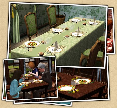 Dining Room Table For 6 Around The Sims 3 Custom Content Downloads Objects