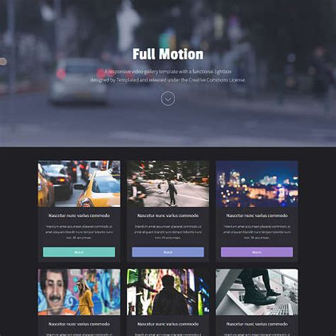 Templated Free Css Html5 And Responsive Site Templates Html Gallery Template